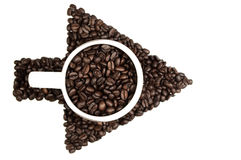 Coffee beans arrow Stock Images