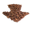 Coffee beans arrow Stock Photography