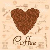 Coffee beans art Stock Photos