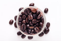 Coffee beans art work background. Close up coffee beans , art work background Stock Photography