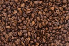 Coffee beans as background Royalty Free Stock Images