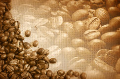 Coffee beans as background Stock Photos