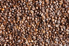 Coffee beans as background texture Royalty Free Stock Images