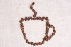 Coffee beans as cup Royalty Free Stock Photos