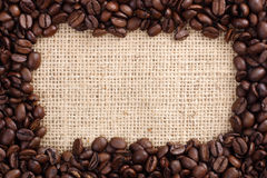 Coffee beans as frame Royalty Free Stock Images