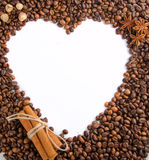 Coffee beans as frame Royalty Free Stock Photography