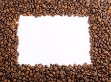 Coffee beans as frame Royalty Free Stock Image