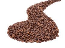 Coffee Beans as road Stock Photography