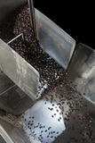 Coffee beans. Automated coffee beans factory, Coffee roasting machine Royalty Free Stock Photography