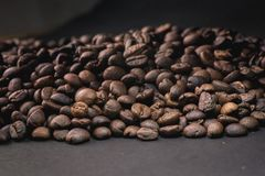 Coffee beans are the background. Coffee beans are the background Royalty Free Stock Photography
