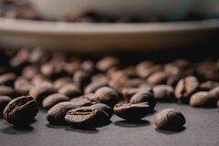 Coffee beans are the background. Coffee beans are the background Royalty Free Stock Image
