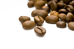 Coffee Beans Background. Coffee Beans. Selective focus. Isolated on white background stock photo