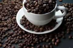 Coffee beans are the background. Coffee beans are the background Stock Photo
