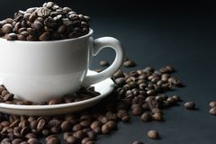 Coffee beans are the background. Coffee beans are the background Royalty Free Stock Photo