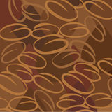 Coffee beans background. Coffee beans and drops background Stock Image