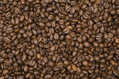 Coffee beans background. Coffee-texture Stock Photo