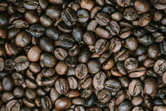 Coffee beans are the background. Royalty Free Stock Photo