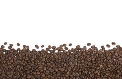 Coffee Beans Background or Border stock photography