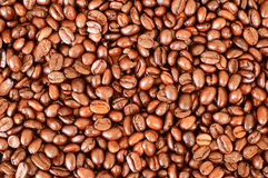 Coffee beans background. Bright background made of coffee beans Royalty Free Stock Image