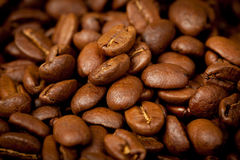 Coffee beans background, close up Royalty Free Stock Photo