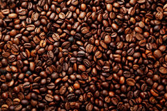 Coffee beans background close up Royalty Free Stock Photo
