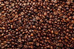 Coffee beans background close up Royalty Free Stock Photos
