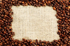 Coffee beans background close up Stock Image