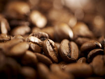 Coffee beans background close up Royalty Free Stock Photography