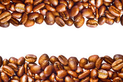 Coffee beans background with copyspace Royalty Free Stock Images