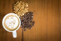 Thai elephant shit coffee Organic coffee Arabica. Coffee beans background cup organic roasted fresh drink food mocha seed crop aroma breakfast beverage black Stock Photos