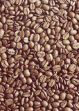 Coffee beans background with Instagram style filter Royalty Free Stock Photos