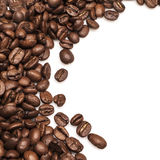 Coffee Beans background isolated on white background. Roasted Coffee Beans background isolated on white background Stock Image