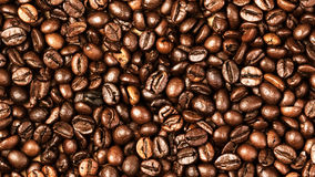 Coffee beans background macro. Dark Roasted coffee beans texture Royalty Free Stock Images
