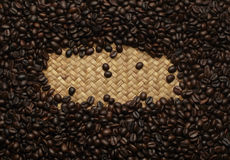 Coffee beans background texture Royalty Free Stock Photo
