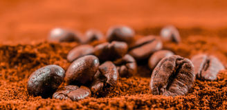 Coffee beans. Background with coffee beans texture Royalty Free Stock Photos