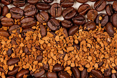 Coffee beans for background and texture Royalty Free Stock Images