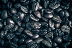 Coffee beans background. tinted Stock Photography