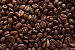Coffee beans background top view Stock Photos
