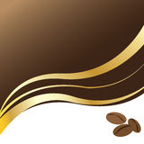 Coffee beans background. Vector illustration abstract background with coffee beans Royalty Free Stock Images