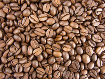 Coffee beans background view from above. Background pattern of coffee beans view from above Stock Photos