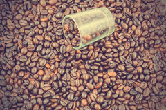 Coffee beans background - vintage effect style pictures Royalty Free Stock Images