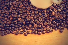 Coffee beans background - Vintage effect style pictures Stock Photography