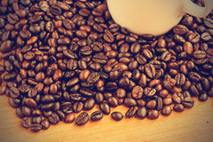 Coffee beans background - Vintage effect style pictures Royalty Free Stock Photo