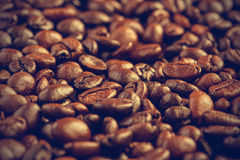 Coffee beans background - Vintage effect style pictures Stock Images