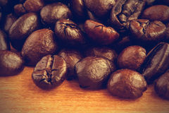 Coffee beans background - Vintage effect style pictures Stock Image