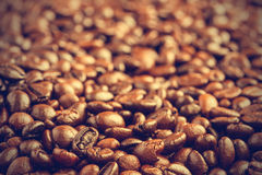 Coffee beans background - Vintage effect style pictures Stock Photos