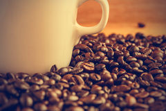 Coffee beans background - Vintage effect style pictures Royalty Free Stock Photos
