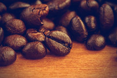 Coffee beans background - Vintage effect style pictures Royalty Free Stock Image