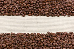 Coffee beans background for your text Royalty Free Stock Photo