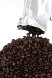 Coffee Beans From Bag Royalty Free Stock Photos